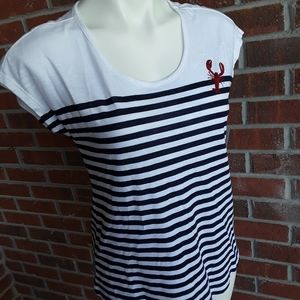 Westport Navy Striped with Red Lobster NWT